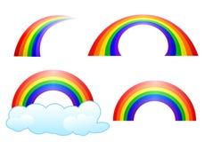 Conjunto del arco iris ilustración del vector