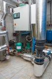Conjunto del aumentador de presión del abastecimiento de agua imagen de archivo libre de regalías