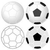 Conjunto del balón de fútbol Fotografía de archivo