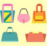 Conjunto del bolso de la mujer Imagen de archivo libre de regalías