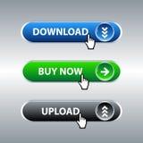 Conjunto del botón stock de ilustración