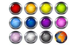 Conjunto del botón Foto de archivo libre de regalías