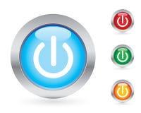 Conjunto del botón de la potencia Imagenes de archivo