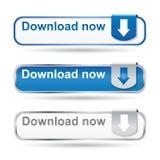 Conjunto del botón de la transferencia directa Fotos de archivo