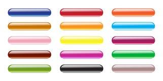 Conjunto del botón del aqua del color. Imagen de archivo