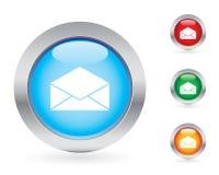 Conjunto del botón del correo Imágenes de archivo libres de regalías