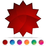 Conjunto del botón del cristal de mosaico de Starburst Fotos de archivo