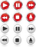 Conjunto del botón del juego Imágenes de archivo libres de regalías