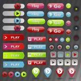 Conjunto del botón del juego Imagen de archivo libre de regalías