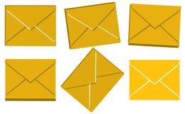Conjunto del botón del sitio del correo 3d Imagen de archivo libre de regalías