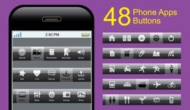 Conjunto del botón del teléfono del vector Imagen de archivo