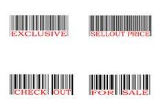 Conjunto del código de barras Imagen de archivo libre de regalías