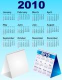Conjunto del calendario del vector Fotografía de archivo libre de regalías