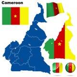 Conjunto del Camerún. Imagen de archivo libre de regalías
