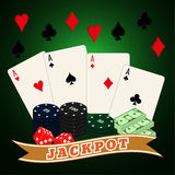 Conjunto del casino Fotografía de archivo libre de regalías
