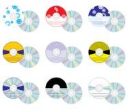 Conjunto del CD ilustración del vector