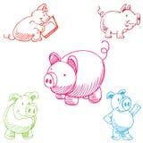Conjunto del cerdo Fotografía de archivo libre de regalías