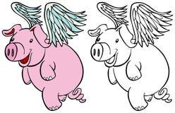 Conjunto del cerdo del vuelo Foto de archivo