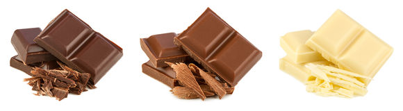 Conjunto del chocolate Fotografía de archivo
