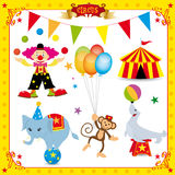 Conjunto del circo de la diversión Imagenes de archivo