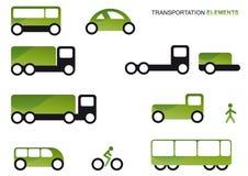 Conjunto del clipart del transporte Imagen de archivo libre de regalías