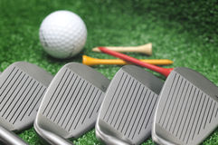 Conjunto del club de golf Fotografía de archivo