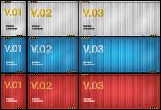 Conjunto del contenedor para mercancías del vector Fotos de archivo libres de regalías