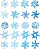 Conjunto del copo de nieve Imagen de archivo