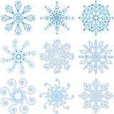 Conjunto del copo de nieve Fotos de archivo libres de regalías