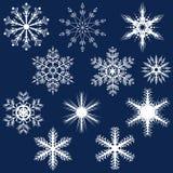 Conjunto del copo de nieve Foto de archivo libre de regalías