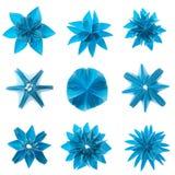 Conjunto del copo de nieve de Origami Imagen de archivo libre de regalías