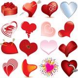 Conjunto del corazón Imágenes de archivo libres de regalías