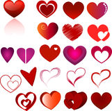 Conjunto del corazón Fotos de archivo