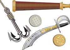 Conjunto del corsario. Foto de archivo libre de regalías