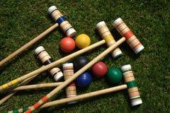 Conjunto del croquet Fotografía de archivo