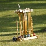 Conjunto del croquet Foto de archivo
