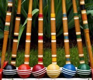 Conjunto del croquet Fotografía de archivo libre de regalías