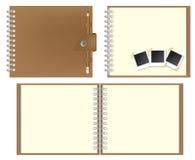 Conjunto del cuaderno de Brown ilustración del vector