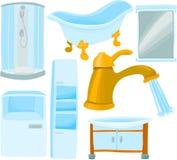Conjunto del cuarto de baño Fotos de archivo