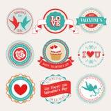 Conjunto del día del ` s de la tarjeta del día de San Valentín libre illustration