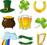Conjunto del día del St. Patrick Foto de archivo libre de regalías