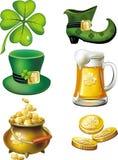 Conjunto del día del St. Patrick Foto de archivo
