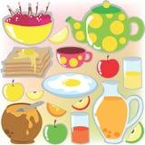 Conjunto del desayuno Fotografía de archivo libre de regalías