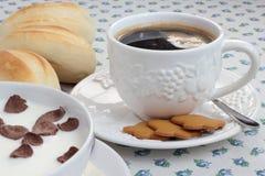 Conjunto del desayuno Foto de archivo libre de regalías