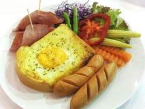 Conjunto del desayuno Imagen de archivo libre de regalías