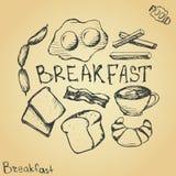 Conjunto del desayuno Fotos de archivo