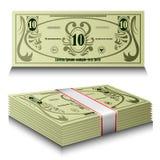 Conjunto del dinero Imágenes de archivo libres de regalías