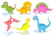 Conjunto del dinosaurio Fotografía de archivo