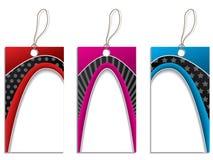 Conjunto del diseño de la escritura de la etiqueta del color Fotos de archivo libres de regalías