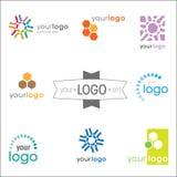 Conjunto del diseño de la insignia Imagenes de archivo